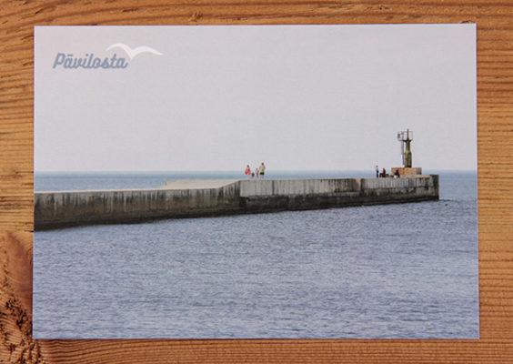 katkarte Nr. 1191 – Pāvilostas Ziemeļu mols. Pieejamais skaits: 10 gab.