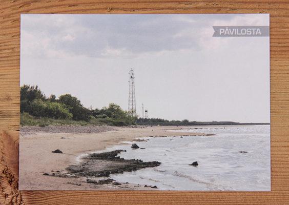 Skatkarte Nr. 1188 – Pāvilostas pludmale. Pieejamais skaits: 10 gab.