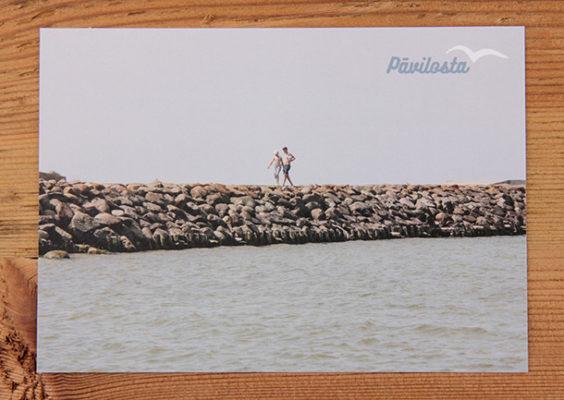 Skatkarte Nr. 1192 – Pāvilostas Dienvidu mols. Pieejamais skaits: 10 gab.