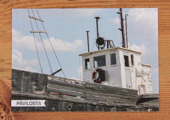 """Skatkarte Nr. 1211 – Kuģis """"Dole"""", Pāvilosta. Pieejamais skaits: 10 gab."""