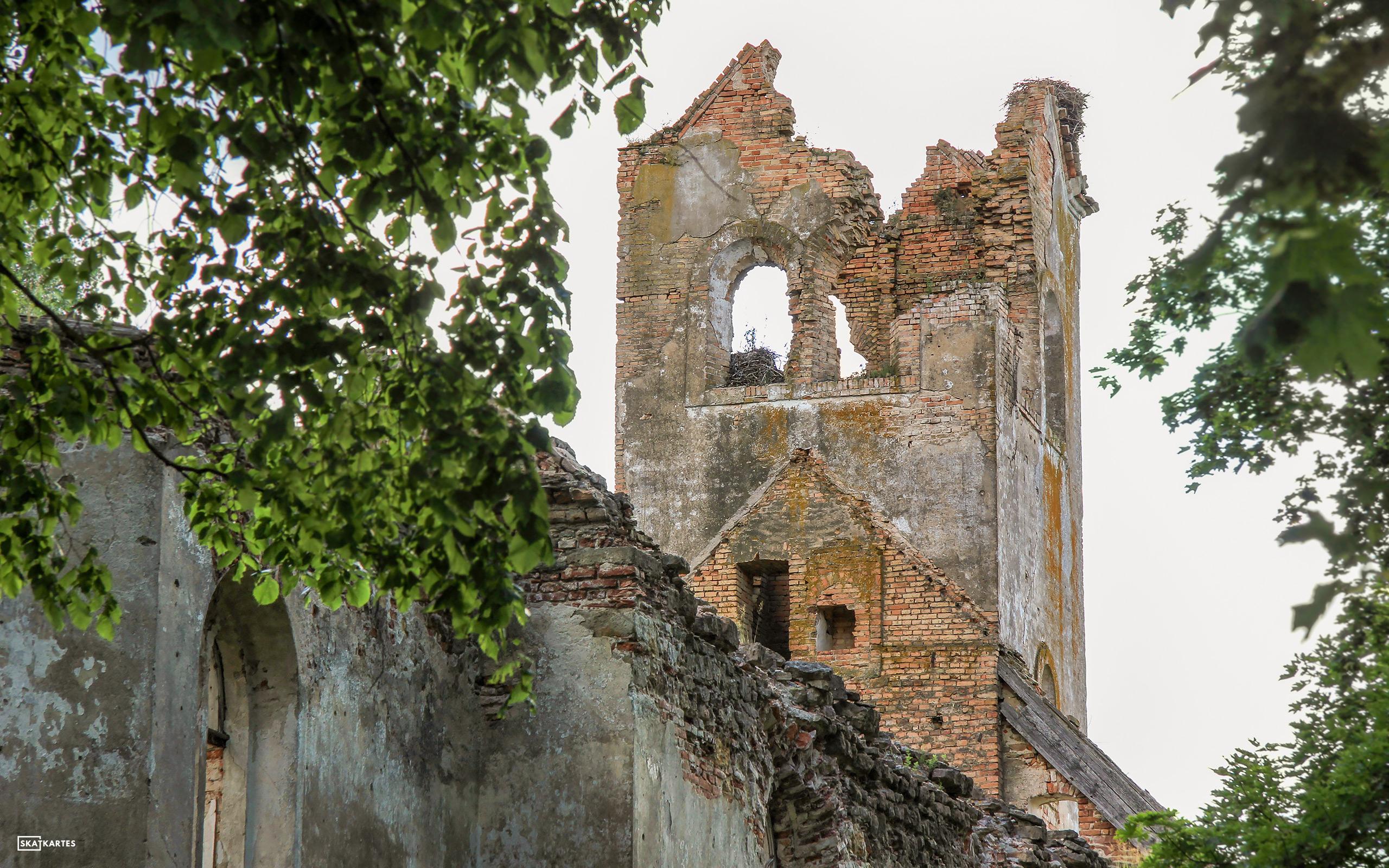 Skatkarte Nr. 1099 - Salgales baznīcas drupas (2015. gada vasara).