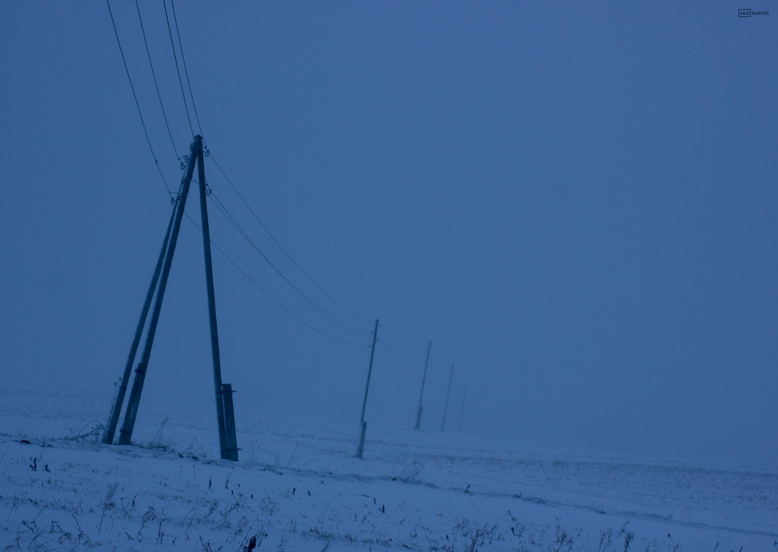 Skatkarte Nr. 1135 - Lindez muižas vārti ziemā (2015. gada februāris).